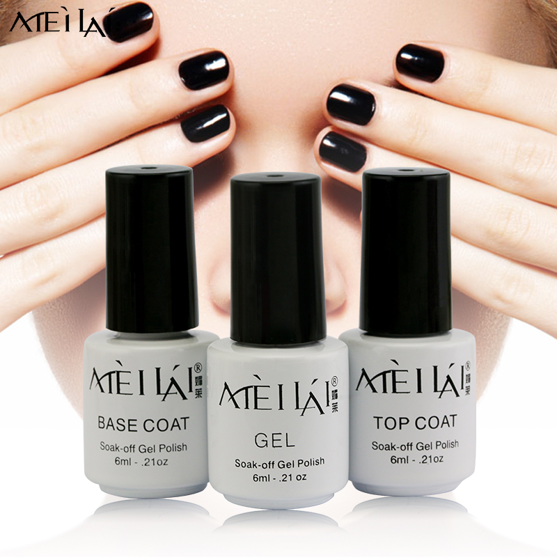 Meilai 6Ml China Soak Off Uv Color Gel Nail Polish Set Unhas De Gel Lucky Gel Nail Lacquers Varnish Professional Vernis A Ongle(China (Mainland))