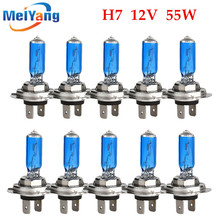 Buy 10pcs H7 55W 12V Super Bright White Fog Lights Halogen Bulb High Power Car Headlights Lamp Car Light Source parking auto for $8.53 in AliExpress store