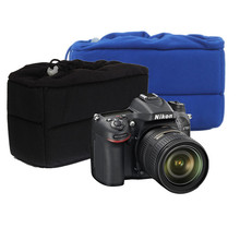 High Quality Shockproof Camera Lens Case Pouch Insert Cushion Partition Padded Bag For DSLR SLR Two Colors