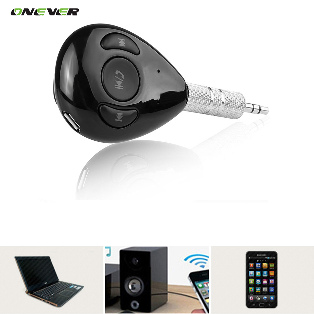Wireless 3.5mm Bluetooth V4.1 Car Kit Audio Receiver Stereo Hands-free with Mic A2DP Car Adapter Aux for Speaker Car Stereo(China (Mainland))