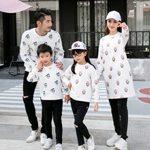 Duck Sweatshirt Family Set for Mother Daughter Daddy Son Family Matching Clothing Women Men Kid Fall Long Women Crewnecks CP80