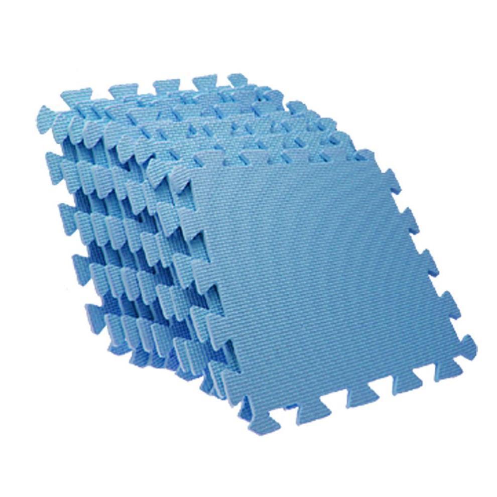 Newest Arrive EVA Puzzle Foam Anti-Fatigue Blue Interlocking Floor Mats(China (Mainland))