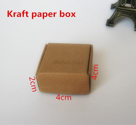 100Pcs/Lot-4*4*2cm Aircraft Cardboard Pack Boxes Smart Little Sized Craftwork Gift Fastener Ear Rings Kraft Paper Storage Box(China (Mainland))