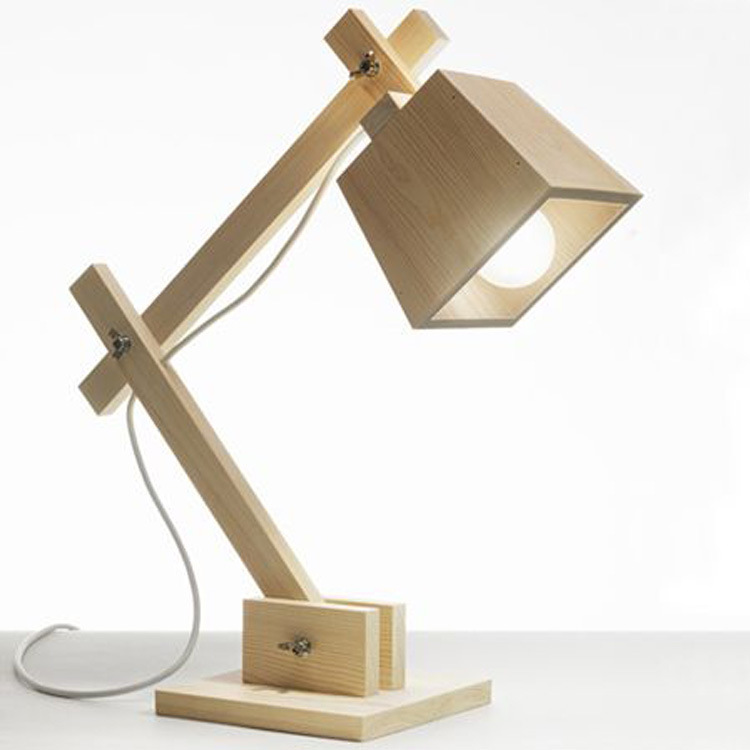2015 Real Hot Sale Ccc Chandeliers Chandelier Lustres Modern Minimalist Wooden Table Lamp Muuto Puppy Dog Wood Personality Desk(China (Mainland))