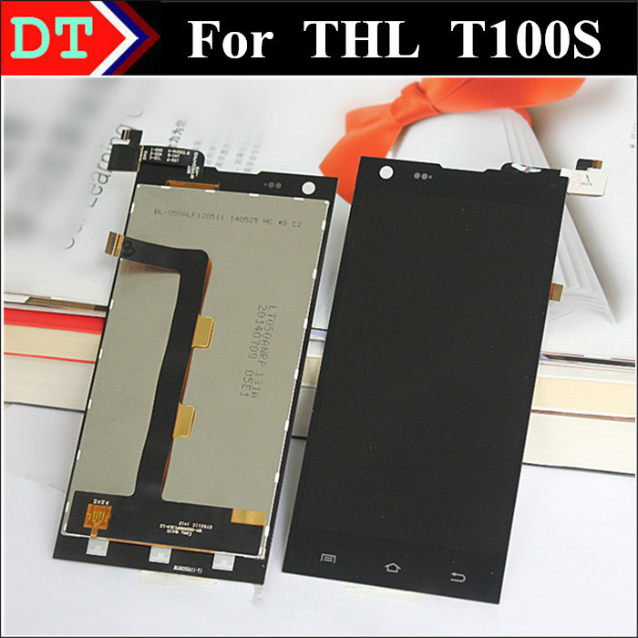 THL T100 LCD Display + Digitizer Touch Screen Assembly For THL T100S 1920*1080 FHD Black color Free Shipping