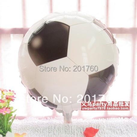 20pcs/lot Football model aluminium film foil balloon holiday party celebration decoration balloon free shipping(China (Mainland))