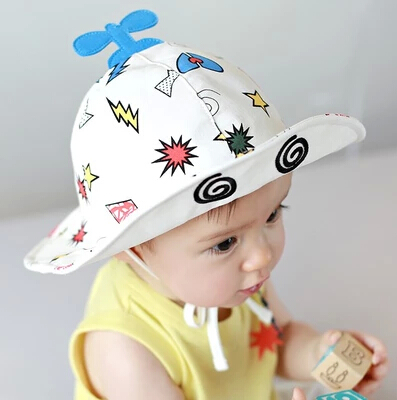 New Baby Aircraft Cute Caps Fashion Fisherman Hats Cotton Baby Sun Visor Caps Bucket Hats Free Shipping High Quality(China (Mainland))