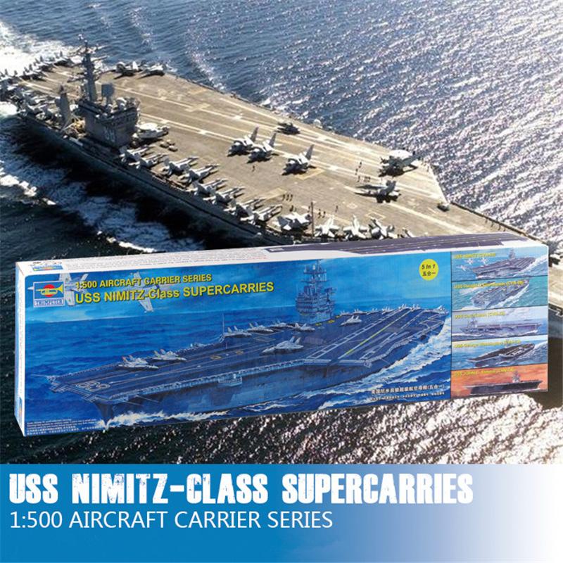 Trumpeter 1/500 USS Nimitz-class CVN-68 Aircraft SuperCarries Static Warship Plastic Assembly Models 05201(China (Mainland))