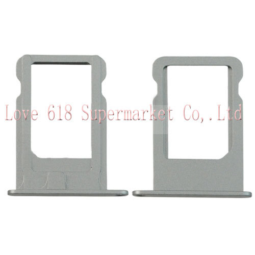 Free Shipping Wholesale SIM Card Tray Holder Replacement for iPhone 5S - Silver