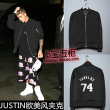 Justin bieber clothes fashion ruslana korshunova thermal jacket the trend of winter outerwear baseball clothing(China (Mainland))