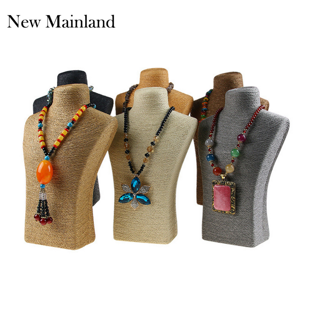 New Arrival HOT-Selling Mannequin Necklace Decorate Pendant Jewelry Display Frame Stand Show For Women Show Shelf Wholesale(China (Mainland))