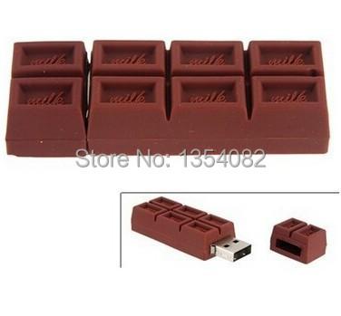[해외]?실리콘 밀크 초콜릿 모양 USB 플래시 엄지 펜 드라이브 메..