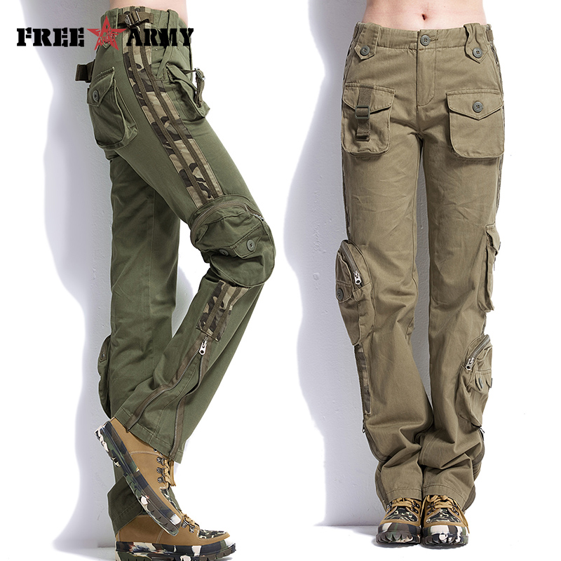Original Women Military Clothing Tactical Pants MultiPocket Cotton Joggers