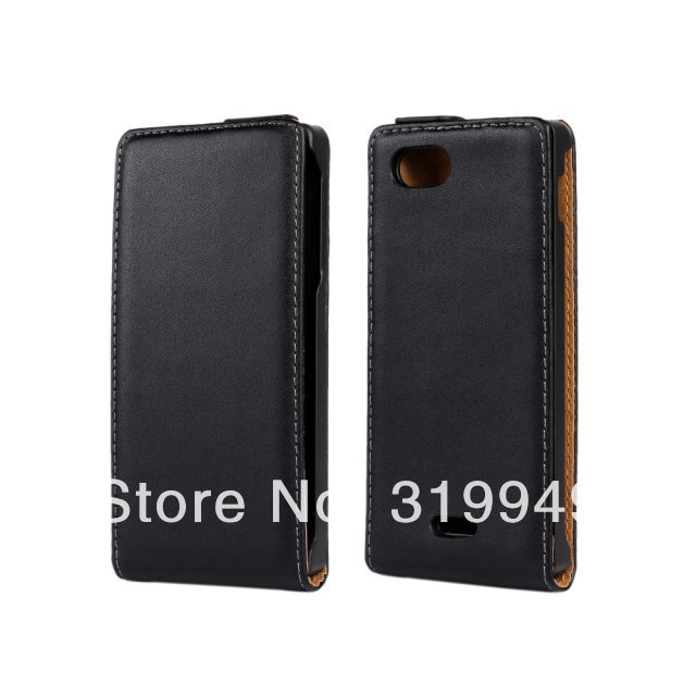 High Quality  Flip Leather Case Cover For Sony Xperia J  ST26i Free Shipping UPS DHL HKPAM CPAM