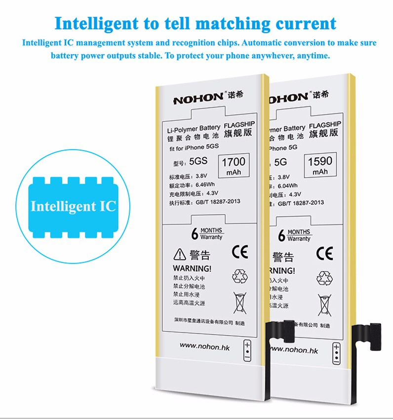 NOHON Battery For Apple iPhone 5 1 Details (5)