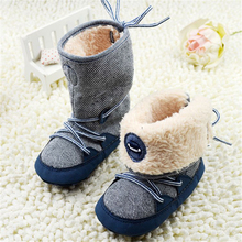 0-18Months Baby Boy Winter Warm Snow Boots Lace Up Soft Sole Shoes Infant Toddler Kids(China (Mainland))