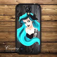 Punk Mint Hair Ariel Case For Galaxy S5 mini S4 mini S3 mini Note 4 3 Win I8552 Mega 6.3 Ace 4 Tattoo Princess Classic Cover