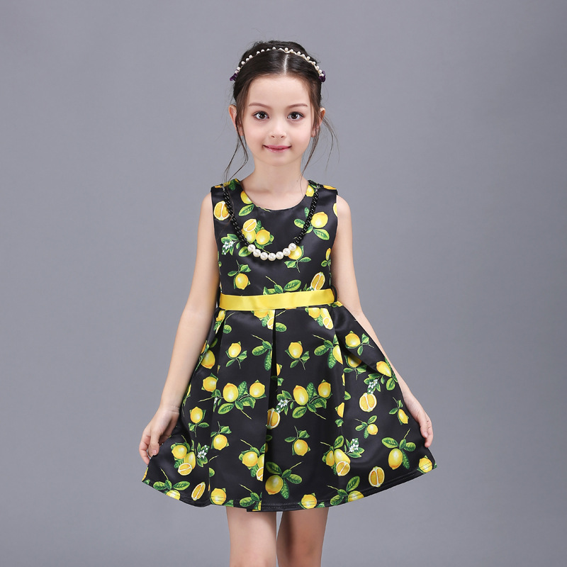 2016 Bohemian Print girls clothes summer dress party dresses kids clothing birthday dress for girls kids frock designs 63