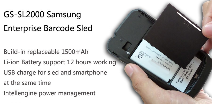 Generalscan SL2100S75 Enterprise Sled 1D barcode scanner sled with Android Smartphone for warehouse inventoty management