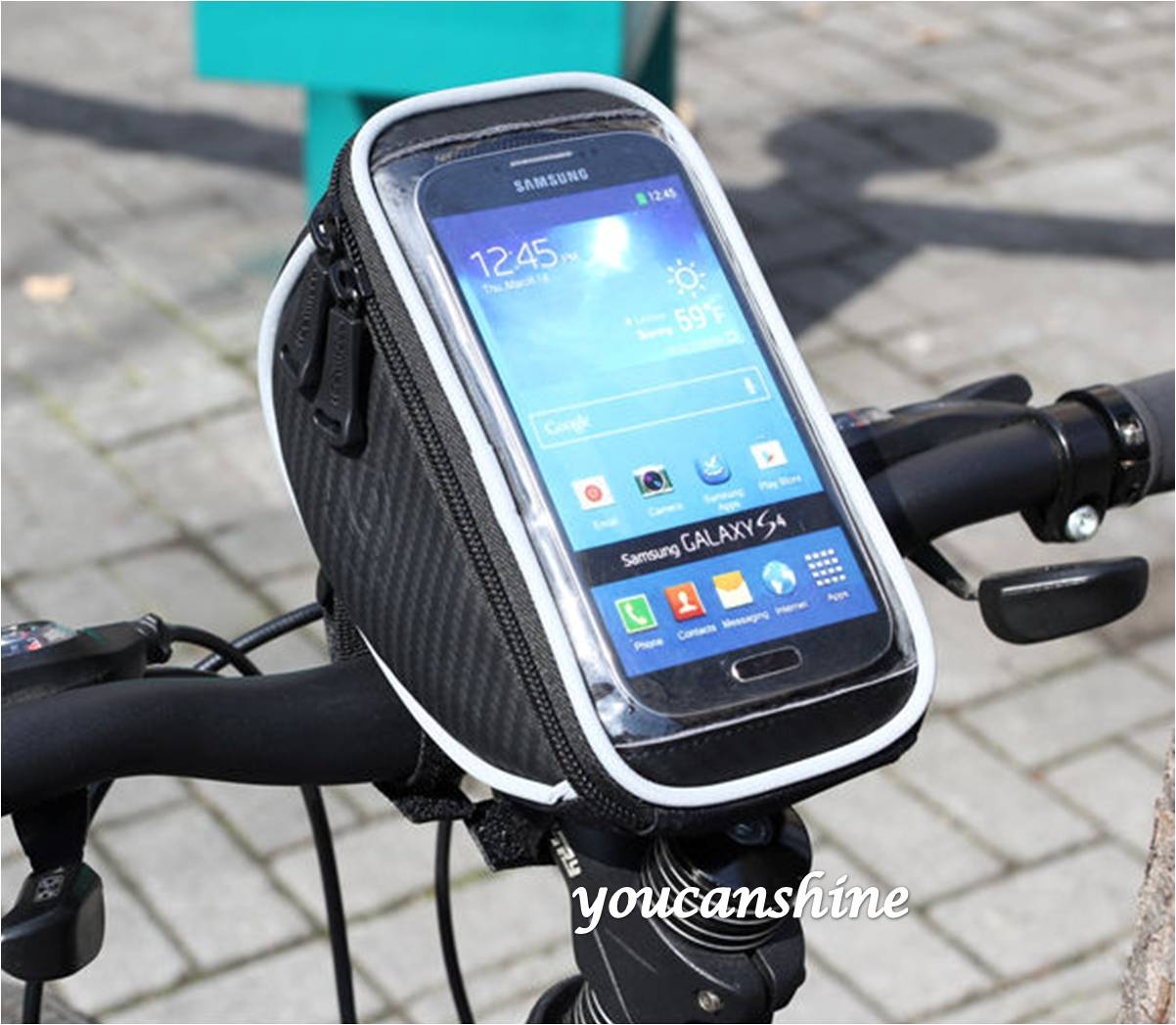 1pc New Fashion Outdoor Sports Cycling Bike Bicycle Front Frame Handlebar Bag Pouch Galaxy S3 S4 S5 Note 2 3 4 iPhone 6 GPS - J-WELL store