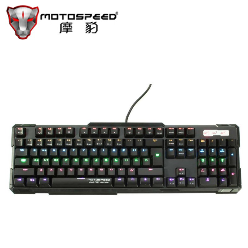 Motospeed K81 USB Wired Mechanical Gaming Keyboard with Tactile High speed 104 Keys Anti-ghosting Black Switches RGB Backlight