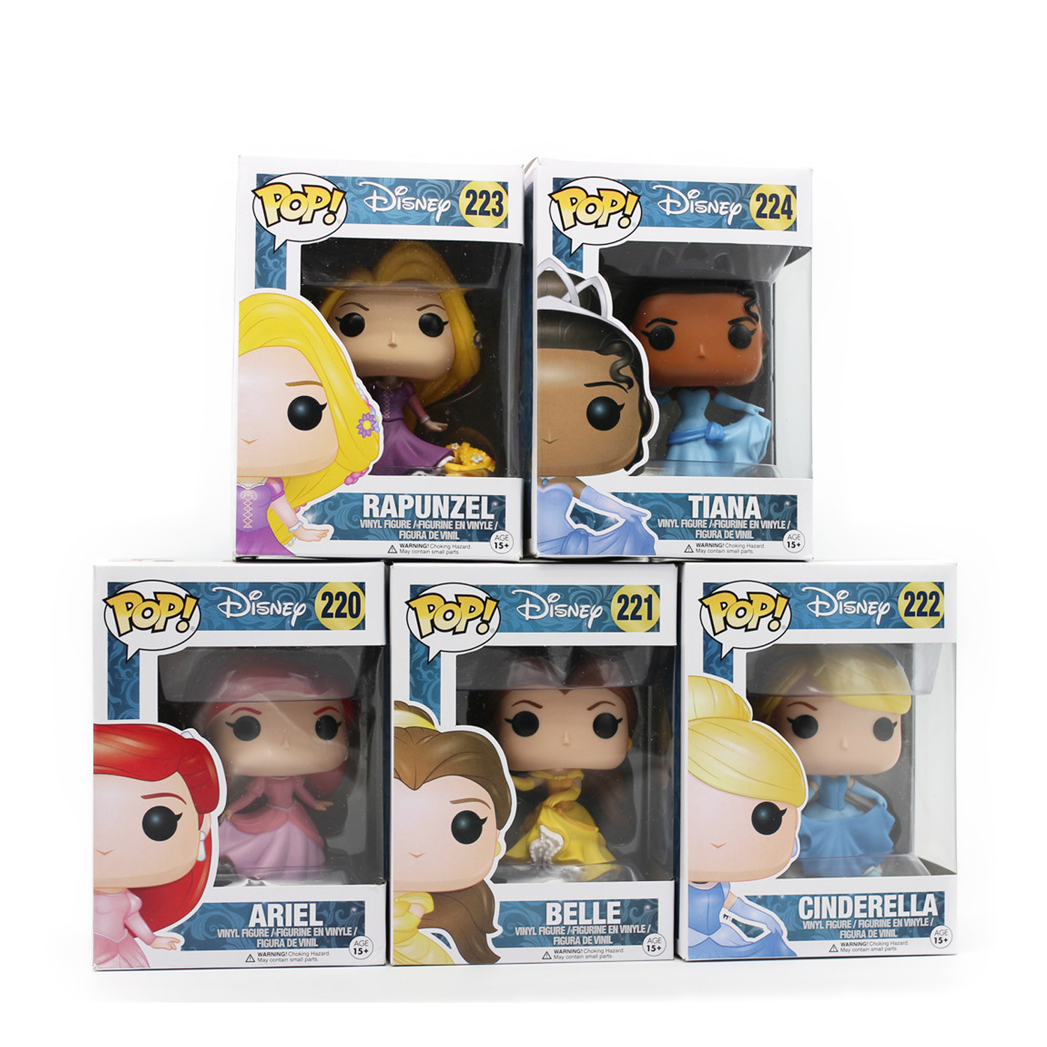 Chanycore Funko POP Princess Cinderella Tinker Bell Ariel Papunzel Tiana PVC Movie Vinyl Cute Action Figure Collection Toys(China (Mainland))