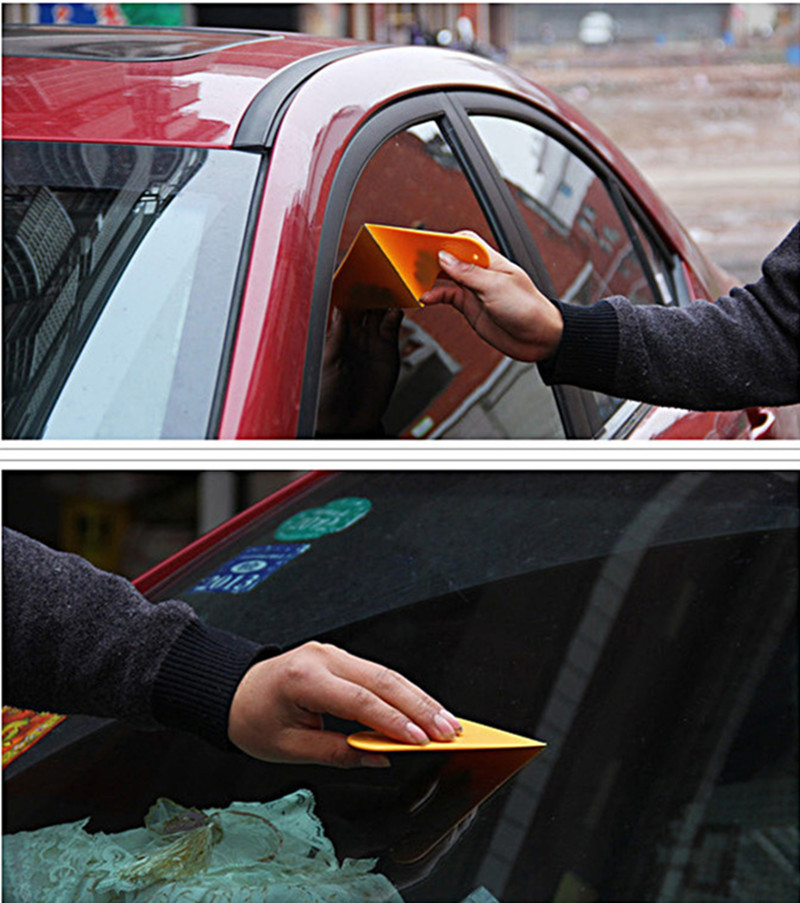 1 pcs yellow Car sticker tool body window Styling 3D Carbon Fiber Vinyl Wrapping Film tools Auto Accessories(China (Mainland))