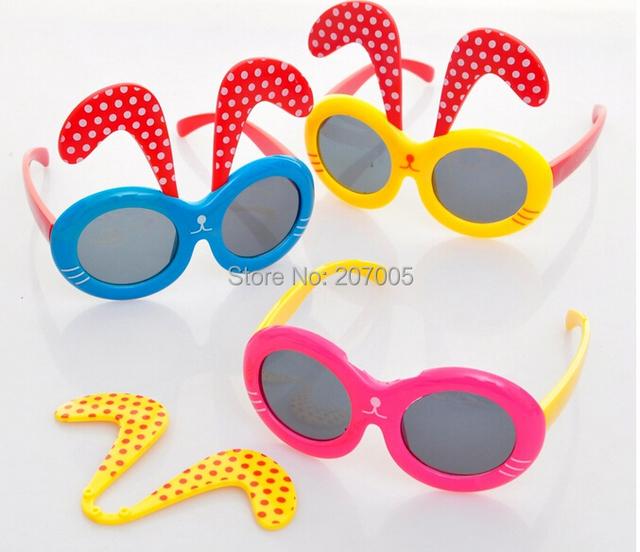 Прекрасный кролик солнечные очки девочка и мальчик солнца стекло 6 цветов кролик животное солнечные очки