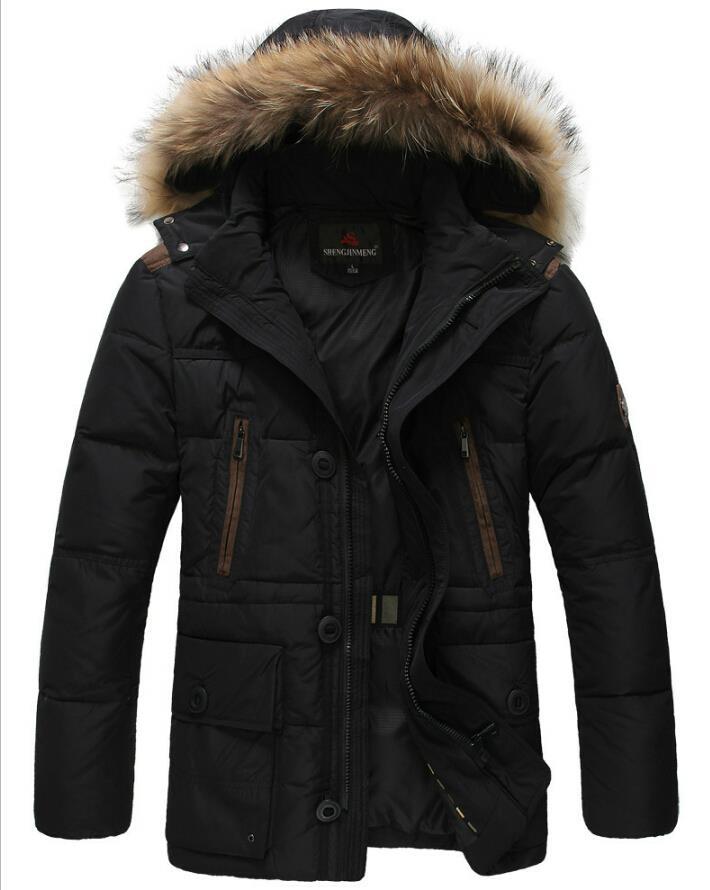 2015 Parka Men Men s Winter Jacket Coat Brand Male Thickening Plus Size 90 White Duck