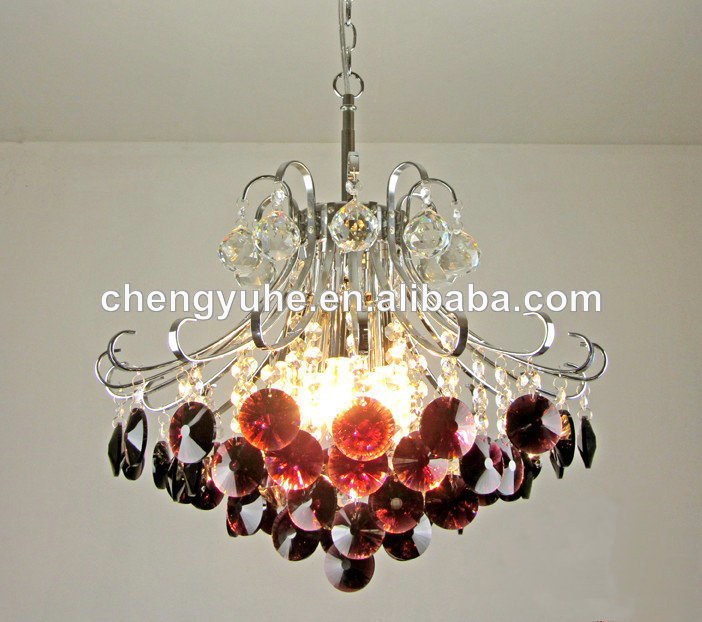Crystal Chandelier Small Size: Free Shipping 110 240V Wine Red Color Small Size Crystal