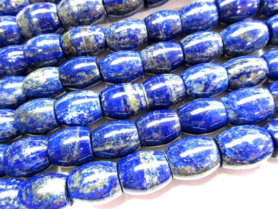 Wholesale 15x20mm full strand Untreated Genuine Lazulie Lapis Bead Barrel Rice jewelry bead<br><br>Aliexpress