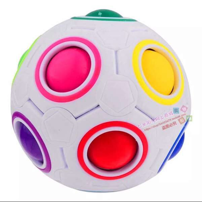 HOT Spherical Cube Rainbow Ball Football Magic Speed Cube Puzzle Children's Educational Toys Cubes GMF for baby free shipping(China (Mainland))