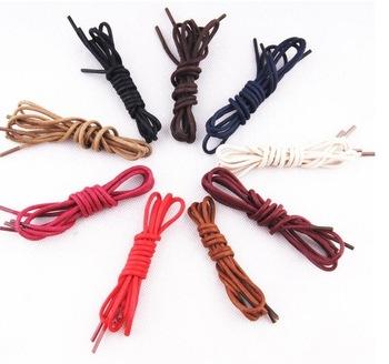 2016 shoelaces 11 colors shoelaces high quality nylon shoelaces 3 Lengths (75/85/95/cm) Cotton Waxed Round shoe laces Y 045