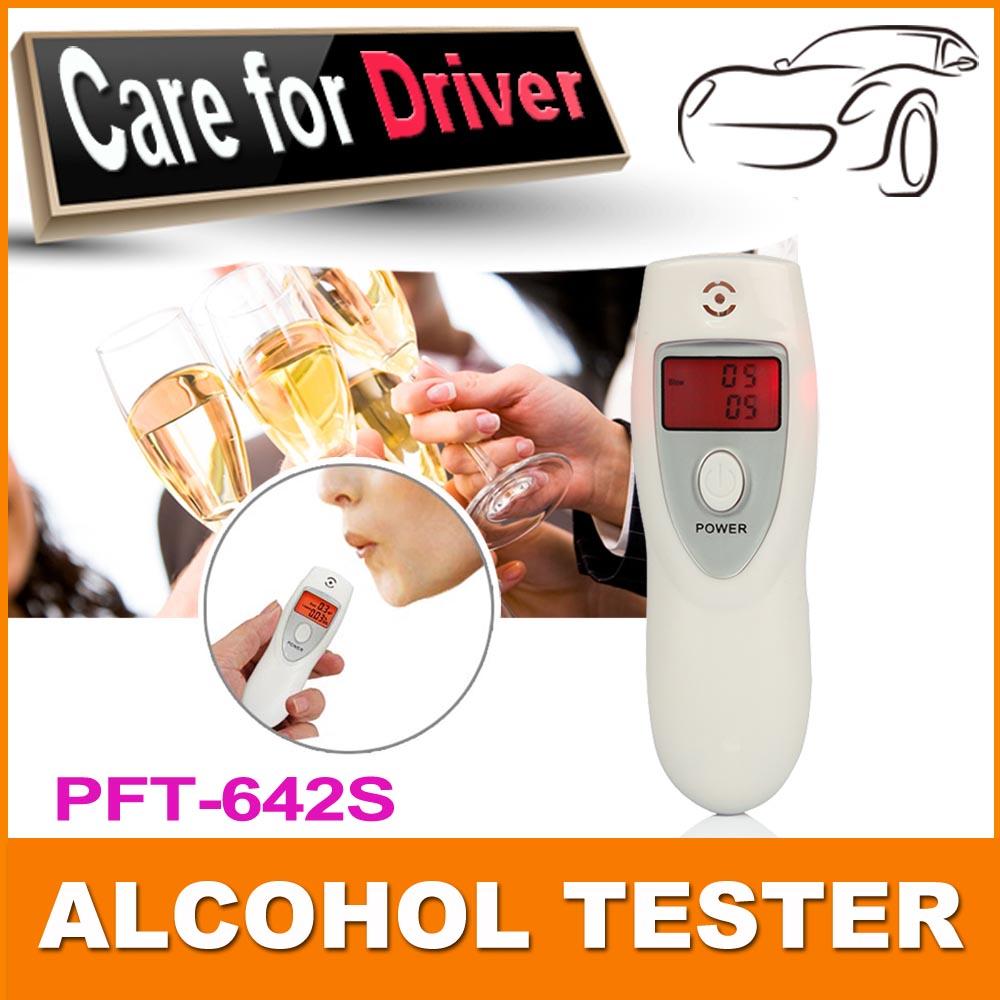 5 pcs/pack Hot Professional Digital Breath Alcohol Tester Detector Breathalyzer Portable Key Chain Alcohol Analyzer Breathlyser(China (Mainland))
