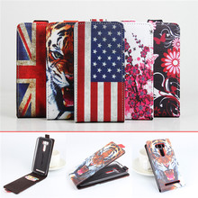 5 Patterns Painted Leather Wallet Stand Flip Card Slot Phone Case Cover Asus Zenfone 2 Deluxe Laser ZE550KL (5.5 Inch) - Mobile Cases & Bags store