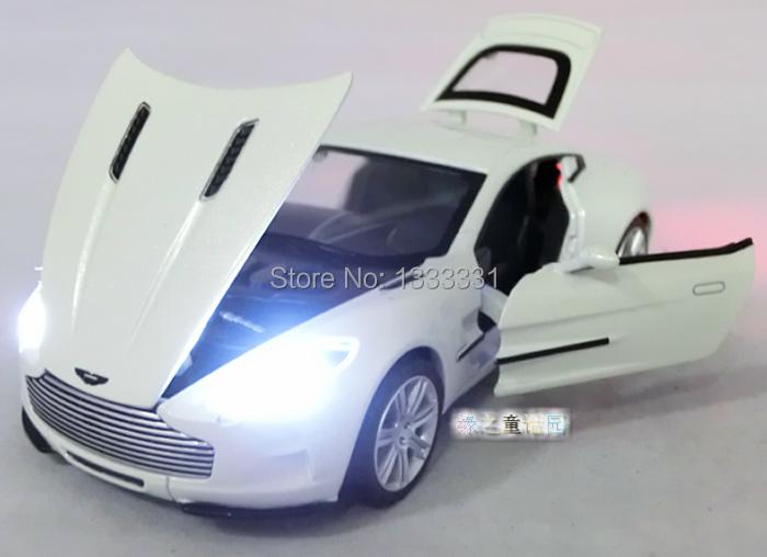 2015 Wanbao 1:32 Aston Martin One-77 Pull Back Acousto-optic Toys Car Classic Alloy Antique Car Model Wholesale Free Shipping(China (Mainland))