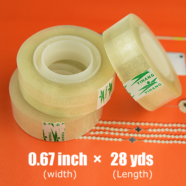 5 roll x 17mm x 26m x 40mic Easy Tear BOPP Adhesive Stationery Tape for Office and School<br><br>Aliexpress