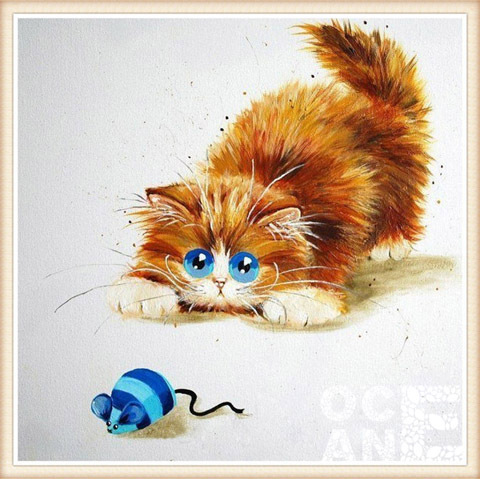 colorful cat diy diamond painting cross stitch animal series home decoration sqaure drill full diamond embroidery