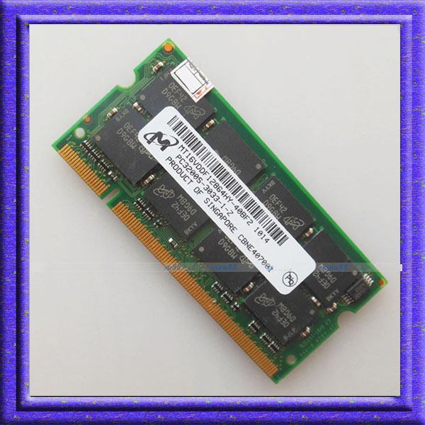 Micron 1GB PC3200 DDR400 200PIN 400MHZ ddr1 SODIMM Laptop MEMORY 1G 200-pin SO-DIMM RAM DDR Laptop Notebook MEMORY Free Shipping(China (Mainland))