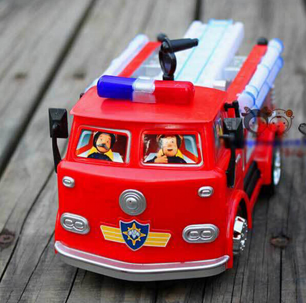Fireman Sam Cart Toy Truck Fire Truck Car With Music LED Boy Toy Educational Toy Christmas Gift(China (Mainland))