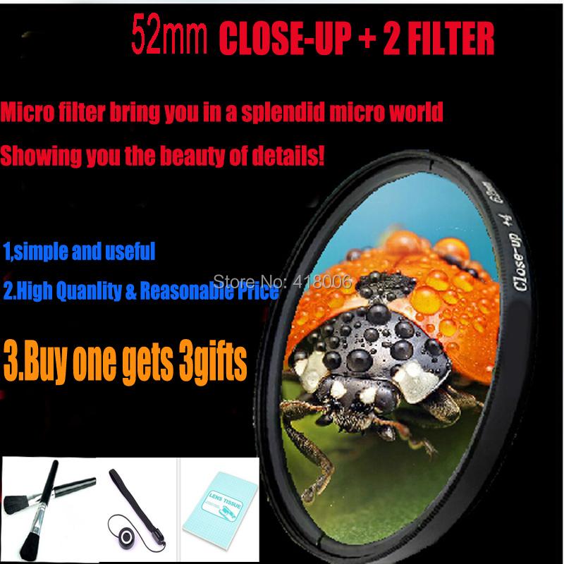 Free shipping high quality 52mm Macro Close Up +2 filter for Panasonic DMC-GF2 GF3 G3 Canon 50MM NIKON D3100 3200 5200 18-55mm(China (Mainland))