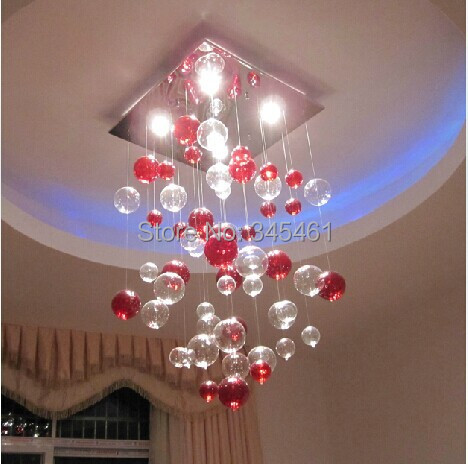Western style Red Bubble lamp Glass bubble pendant lights Fashionable Glass Bubble hanging lamps for bedroom/living room<br><br>Aliexpress