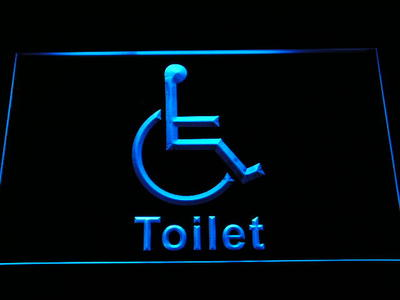 i1049-b Disabled Handicap Wheelchair Accessible Toilet Display LED Neon Light Sign Wholesale Dropshipping(China (Mainland))