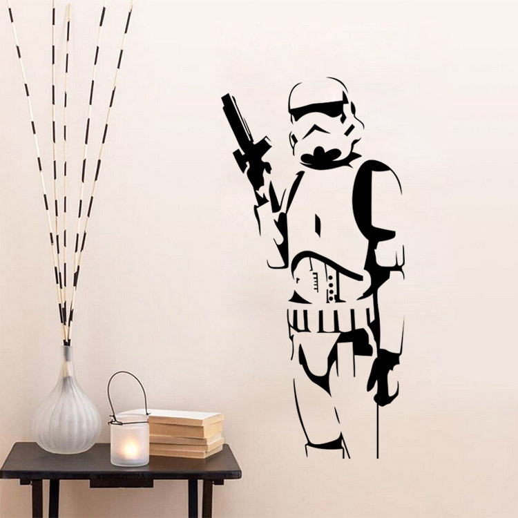 star wars child room wall stickers for kids room boy