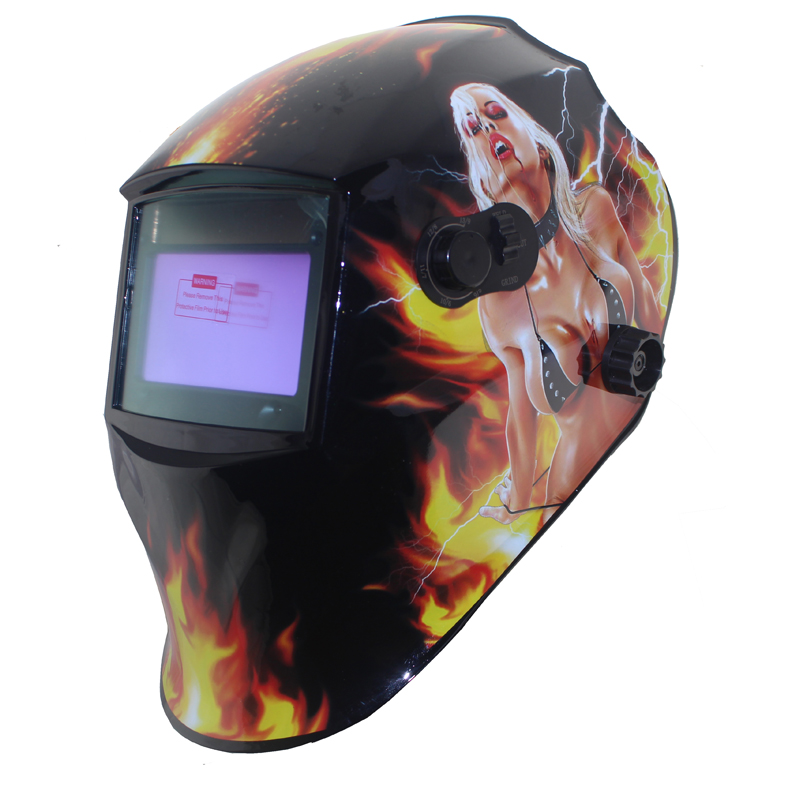 Sexing Big view eara 4 arc sensor grinding cut Solar or Li auto darkening TIG MIG MMA welding mask/helmet/welder cap/face mask(China (Mainland))
