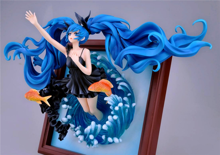 Hatsune Miku Deep Sea Girl Ver. 1/8 Scale Painted Figure Collectible Model Toy 23cm Retail Box WU337<br><br>Aliexpress