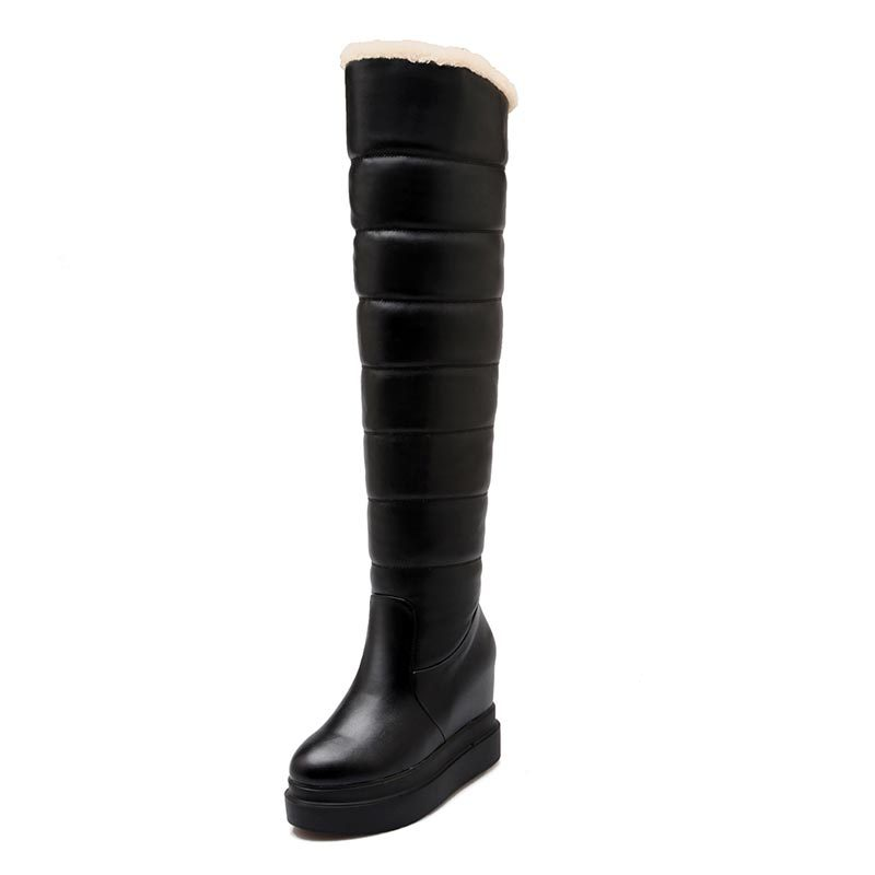 Wonderful Fashion Winter Women Boots High Quality Military Thick Heel Flat Boots