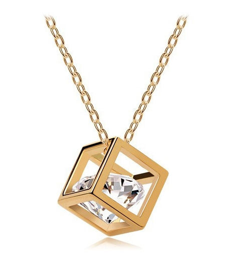 Necklace Cute Geometric Crystal Pendant Necklaces Accessories 2014 Fashion Vintage Jewelry Woman - Bellast Shop store