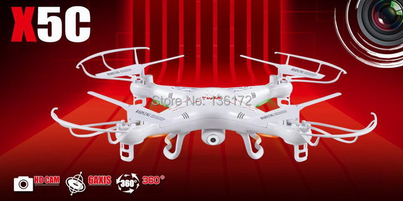 Syma X5C 4CH 2.4G RC Remote Control Quadcopter Eversion Aircraft With 2.0