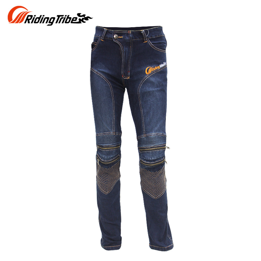 New RIDING-TRIBE Men's Motorcycle Pants Jeans KTM Racing Moto Motocross MX Pants Off-Road Knee Protector Jeans Free Shipping(China (Mainland))